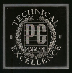 PC Magazine's Award of Excellence
